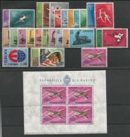 SAN MARINO - 1964 - Annata Completa - 28 Valori + 1 BF - Year Complete ** MNH/VF - Annate Complete