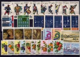 SAN MARINO - 1973 - Annata Completa - 34 Valori - Year Complete ** MNH/VF - Saint-Marin