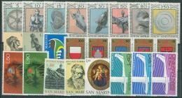 SAN MARINO - 1974 - Annata Completa + Posta Aerea - 24 Valori - Year Complete ** MNH/VF - Annate Complete