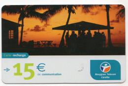 ANTILLES FRANCAISES RECHARGE BOUYGUES TELECOM 15€ Date 06/2005 - Antilles (French)