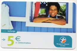 ANTILLES FRANCAISES RECHARGE BOUYGUES TELECOM 5€ Date 02/2005 - Antilles (French)
