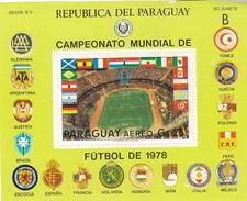 Paraguay Block Soccer Football 1978 - Paraguay