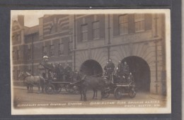 Birmingham Fire Brigade Series, Bordesley Grenn District  Station , 2 Horse Drawn Engines + Crews - Birmingham