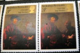 Great Britain 1973 Sir Joshua Reynolds 3p X2 - Unused - Unused Stamps