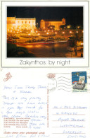 Mani Square, Zakynthos, Greece Postcard Posted 1988 Stamp - Greece