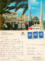 Mosque, Aydin, Turkey Postcard Posted 1981 Stamp - Turquie
