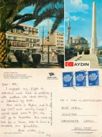 Mosque, Aydin, Turkey Postcard Posted 1981 Stamp - Turkije