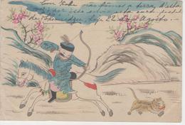 C291) WORLD TOUR 1909:chine China Chinese Hand Painted Postcard Carte Postale Peint A La Main RARE - China