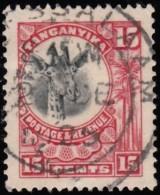 TANGANYIKA - Scott #14 Giraffe / Used Stamp - Kenya, Uganda & Tanganyika