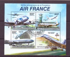 CENTRAFRIQUE 2013 CONCORDE-AVIONS D´AIR FRANCE  Y N°  OBLITERE