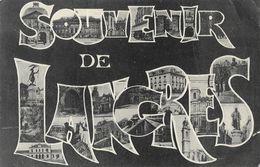 Souvenir De Langres - Multivues Dans Les Lettres - Edition C. Marlin - Souvenir De...
