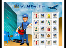 United Nations 2016 Sheetlets - World Post Day