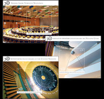 United Nations 2015 Miniature Sheet - 70th Anniversary Of The UN (3 Offices)