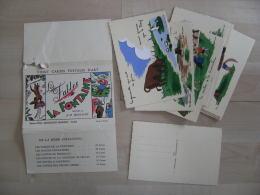 Lot Pochette Illustrateur A M Bossaert  Les Fables De La Fontaine 20 Cartes - Tarjetas De Fantasía