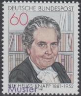Specimen, Germany Sc1341 Politician And German President Theodor Heuss's Wife Elly Heuss-Knapp (1881-1951)