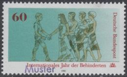 Specimen, Germany Sc1342 International Year Of The Disabled, Handicapé