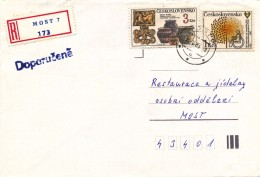 K9379 - Czechoslovakia (1983) Most 7 (R-letter) Tariff 4 Kcs (stamp: 1 Kcs International Year Of Invalids 1991)