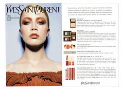 Carte Parfumées  Carte YVES SAINT LAURENT  Cosmétiques MAKEUP Maquillage NEW SPRING  LOOK 2006 - Modern (vanaf 1961)