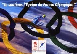 1992 Soutien à L´ Equipe De France Olympique-Jeux Olympiques Albertville - Sports D'hiver