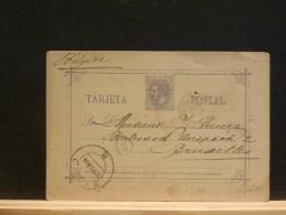 63/711       CP  ESPAGNE  POUR LA BELG.  1884 - Enteros Postales