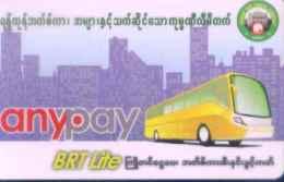 Myanmar Transportation Card, Yogon,  (1pcs)