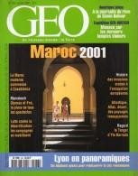 GEO  N° 263, Janvier 2001 ( Maroc / Cambodge / Lyon ...)