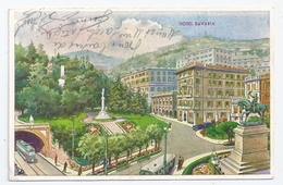 CPSM Illustrée Genova GênesLiguria Italie Italia Hotel Bavaria éditeur Caimo & C. écrite Au Crayon - Genova (Genoa)
