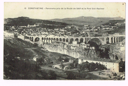 Constantine - Panorama Pris De La Route De Sétif Et Le Pont Sidi-Rached - 1928 - Algérie - Algeria - Constantine