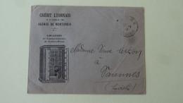 Montargis Credit Lyonnais Pub Coffres Fichet Sur Enveloppe 1934 - Banque & Assurance