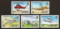 ALDERNEY 1985 - 50th ANNIV. AIRPORT Alderney - SALE !  5v Mi 18-22 MNH ** Cv€35,00 R005 - Alderney