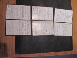 AMEDEE LOUIS CONSTANT VERHAMME DCD LE 18/2/58 - RIDDER IN DE ORDE VAN LEOPOLD II - 5 FAIRE-PARTS - Décès