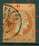 Greece Large Hermes Head 10 L. 1875 - 1880  Hellas 50  Pos 10 - 1861-86 Large Hermes Heads