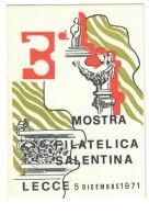 Lecce 3à Mostra Filatelica Salentina 1971 COD. C.1419 - Lecce