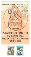Macerata Celebrazioni Ricciane Matteo Ricci 1582-1982 + Cina Taiwan 2 + 18  Nuovi COD. C.1421 - Macerata