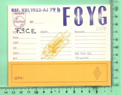 QSL: Radio-Amateur, Opérateur F8YG - Radio Amateur