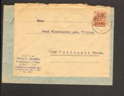Alli.Bes.Fernbrief Mit 24 Pfg.Ziffer Aus Eisenach V.1947 Brief Wurde Doppelt Verwendet - Gemeinschaftsausgaben