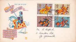 FDC  : Great Britons      Yv Nrs    729 - 32  /   10 July 1974 - 1971-1980 Em. Décimales