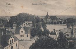 AK Bünde Westfalen Markt Gymnasium Gasthof Zum Adler Bei Löhne Herford Oeynhausen Lübbecke Werfen Enger Hiddenhausen - Löhne