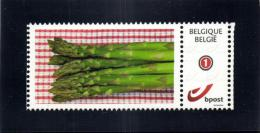 Belgium 2014 Duostamp Self-Adhesive MNH, Asparagus, Asperges, Vegetable - Alimentation