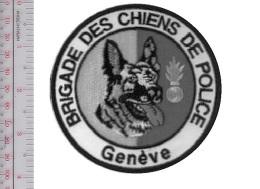 Suisse Police Comte De Geneve Brigade Canine Switzerland Geneva County Police K9 Canine Unit Patch VELCRO Tactical Grey - Police & Gendarmerie