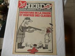 ANCIEN  /  L´HEBDO HARA KIRI    N° 9 / CH.H N° 566 /  SINE/ SEPTEMBRE 1981 - Magazines Et Périodiques