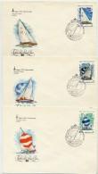 SOVIET UNION 1978 Olympic Publicity: Sailing Set Of 5 FDCs.  Michel 4781-85 - 1923-1991 USSR