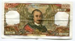 Billet De 100 F  Corneille PAS  De Trou D'épingle  1972  Bel état - 1962-1997 ''Francs''