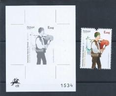 Gaita De Fole De Miranda Douro.Bagpipe Mirandesa Bellows.Bagpipes.Dudelsäcke.Proof Of The Black Stamp Europe 2014. Rare - Musique