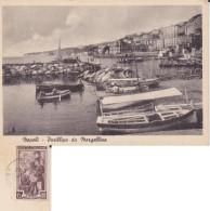 ITALIA 1951 IL TOMBOLO SU CARTOLINA DA NAPOLI - POSILLIPO VELA - 1946-.. République