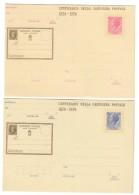 Centenario Della Prima Cartolina Postale 1874-1974 40+55 Lire Nuove C.174+175 COD. C.1017 - Italia
