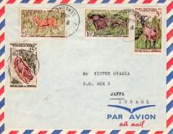"Senegal-Israel 1963 ""National Park Animals"" Mailed Cover 2 - Senegal (1960-...)"