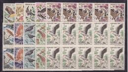 MONACO - OISEAUX - 1962 - YVERT Nº 581-590- ***MNH - 10 SERIES - Unused Stamps