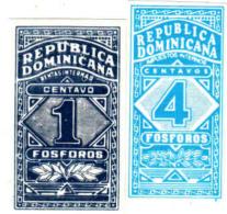 Czechoslovakia Export Republica Dominicana Boites D´allumettes-etiquettes, Impues Tos Internos, Rentas Internas - Boites D'allumettes - Etiquettes