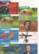 TELECARTE LOT DE 8 TELECARTES FRANCE TELECOM TICKET DIVERS - Japon